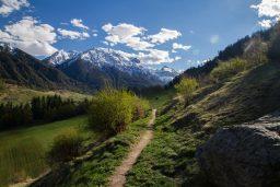 Between Winter and Spring in Val Müstair
