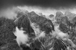 B&W Wednesday: Enshrouded Peaks