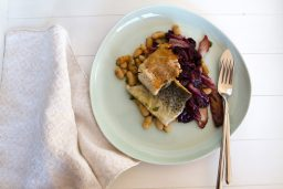 Trout with Beans and Radicchio