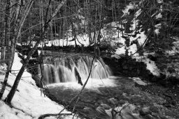 B&W Wednesday: Waterfall