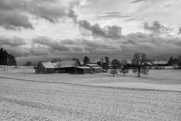 B&W Wednesday: Quiet Farm