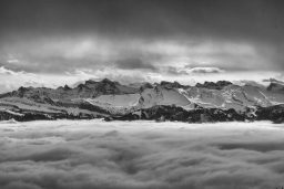 B&W Wednesday: Mountains and Clouds