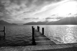 B&W Wednesday: By the Lake