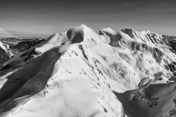 B&W Wednesday: Snowy Alps