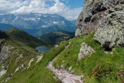 Hiking through the Glarner Alps