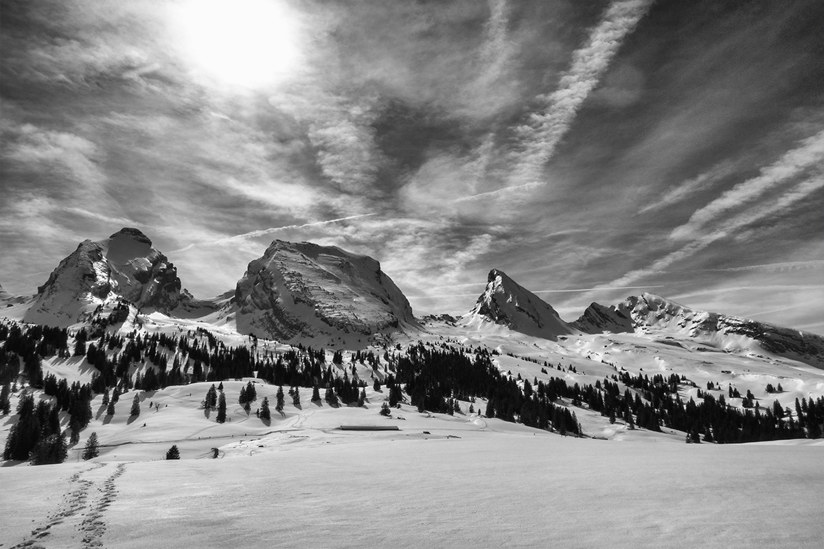 B&W Wednesday: Majestic Mountains