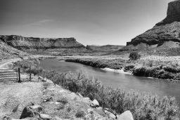 B&W Wednesday: Desert River