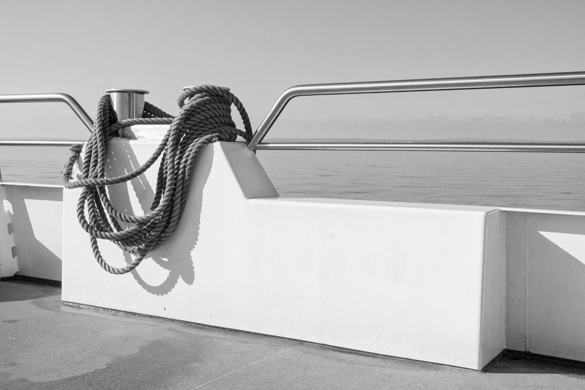 B&W Wednesday: Boat Ride